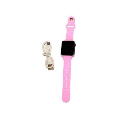 Смарт-часы в розовом цвете применяют во время занятий фитнесом и просто для повседневного использования.