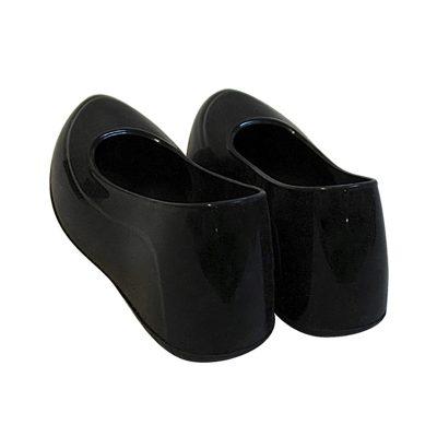 Женские галоши 35-36 размер, черный цвет, закрытые. Вид сзади.