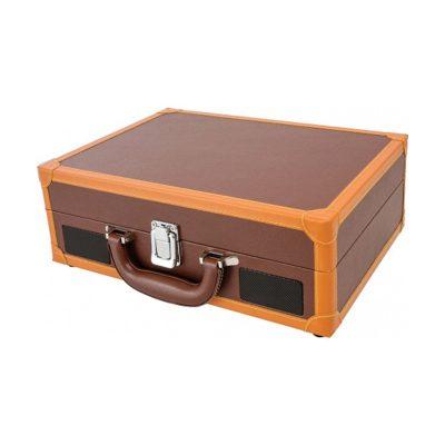 Виниловый проигрыватель ION Audio VINYL MOTION DELUXE имеет стильный корпус, выполнен в форме чемодана. В упаковке.