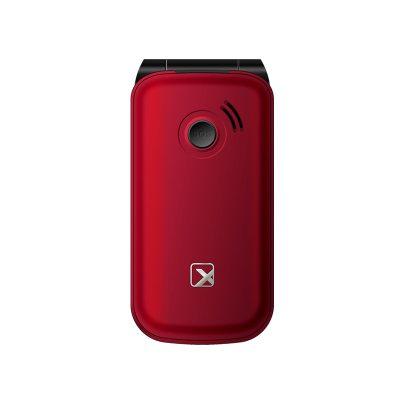 Телефон-раскладушка Texet TM-B216 в красном цвете. Вид сзади.