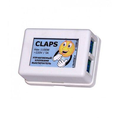 Хлопковый выключатель CLAPS MAX реагирует на хлопки.