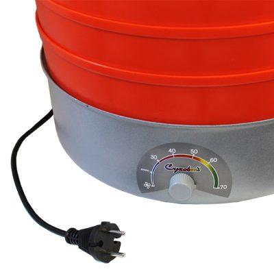 Сушилка для фруктов, овощей, грибов Суховей электрическая, 5 поддонов, оранжевый цвет.-3