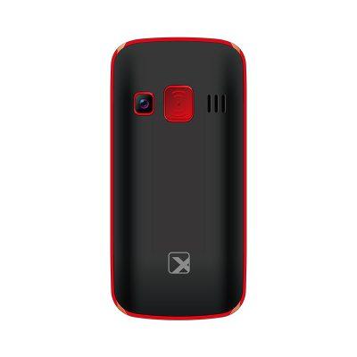 Кнопочный мобильный телефон Texet TM-B217 в черном цвете. Вид сзади.