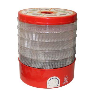 Сушилка для фруктов, овощей и грибов Любава СОЗ 520 электрическая, красный цвет.