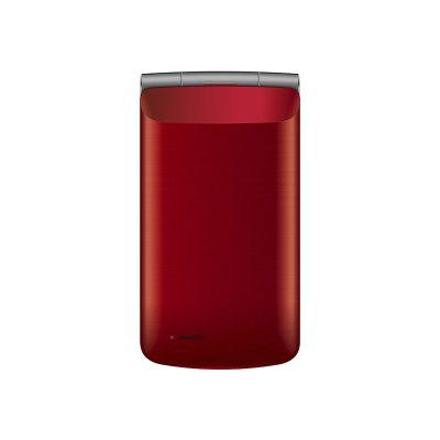 Телефон-раскладушка Texet TM-404 в красном цвете. Вид спереди.