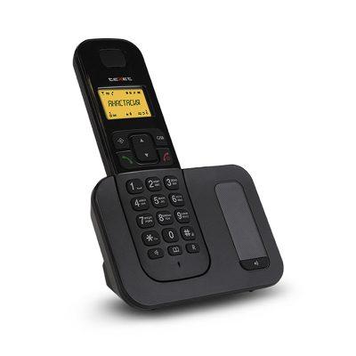 Радиотелефон Texet TX-D6605А в черном цвете. Вид сбоку.