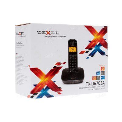 Радиотелефон Texet TX-D6705А в черном цвете. В упаковке.