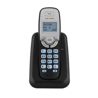 Радиотелефон Texet TX-D6905A в черном цвете. Вид спереди.