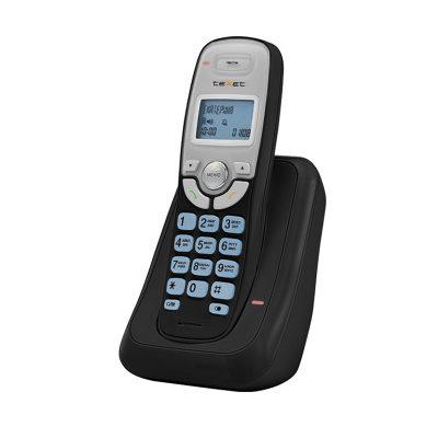 Радиотелефон Texet TX-D6905A в черном цвете. Вид сбоку.