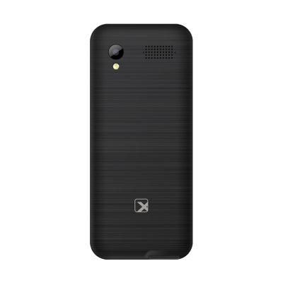 Кнопочный мобильный телефон Texet TM-D327 в черном цвете. Вид сзади.