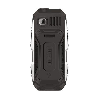 Кнопочный мобильный телефон Texet TM-D429 в черном цвете. Вид сзади.