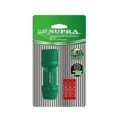 Фонарь светодиодный Supra, зеленый цвет. Для дома и дачи. В упаковке.