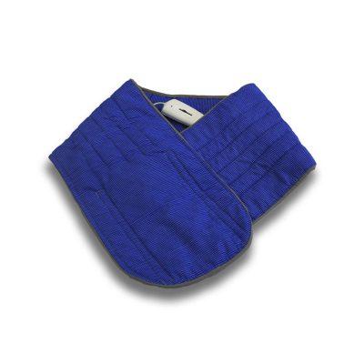 Электропояс Инкор для пресса размером 25х125 см в синем цвете с подогревом.
