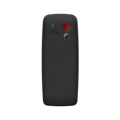 Кнопочный мобильный телефон Texet TM-B307 в черном цвете. Вид сзади.