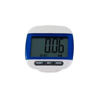 Шагомер Нордик Пейва синего цвета используется для измерения количества шагов.