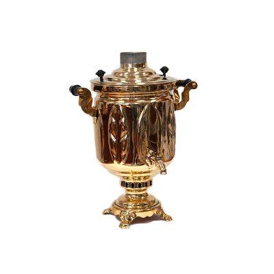 Дровяной самовар «Дубрава». В набор входят самовар, чайник, поднос и труба.-2