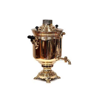 Дровяной самовар «Классический». В набор входят самовар, чайник, поднос и труба.-2