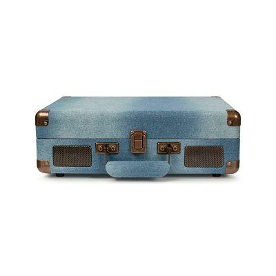Виниловый проигрыватель Cruiser Deluxe Denim Bluetooth выполнен в стиле классическоо проигрывателя. В закрытом виде-компактный чемодан.