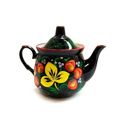 Электрический чайник с росписью входит в набор с электрическим самоваром «Матрешка»